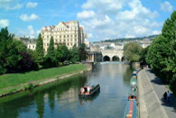 River Avon at Bath, one of the major tourist destinations in England